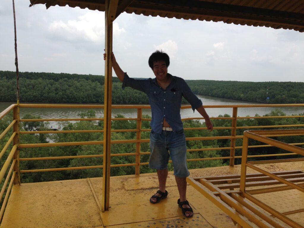 パノラマタワー(展望台)の上からの塩田英司